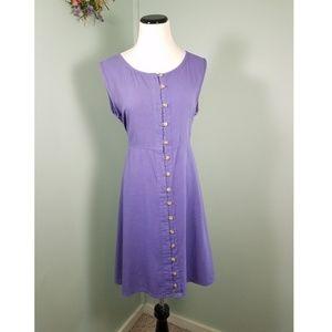 VINTAGE 90s Button Down Market Dress, Med/Lg